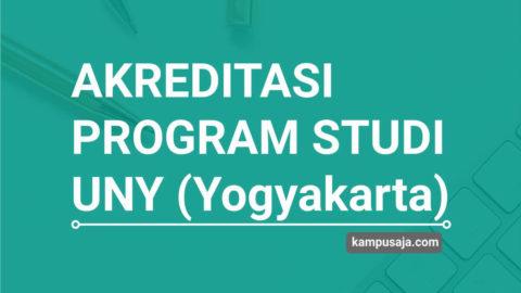 Akreditasi Program Studi UNY Universitas Negeri Yogyakarta - Jurusan di UNY