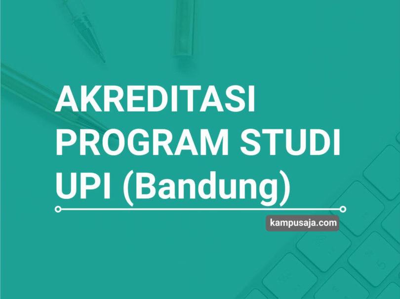 Akreditasi Program Studi UPI Universitas Pendidikan Indonesia Bandung - Jurusan di UPI