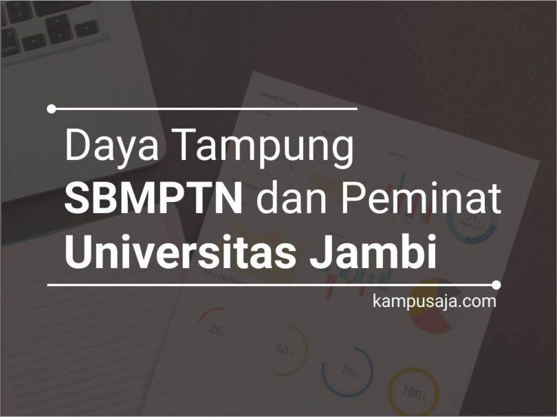 Daya Tampung SBMPTN UNJA dan Peminat UNJA Universitas Jambi