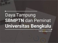 Daya Tampung SBMPTN UNIB dan Peminat UNIB Universitas Bengkulu