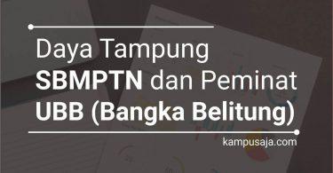 Daya Tampung dan Peminat SBMPTN UBB Universitas Bangka Belitung