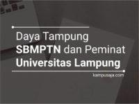 Daya Tampung dan Peminat SBMPTN UNILA Universitas Lampung