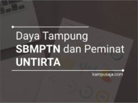 Daya Tampung dan Peminat SBMPTN UNTIRTA Universitas Sultan Ageng Tirtayasa