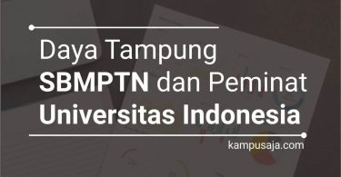 Daya Tampung dan Peminat SBMPTN UI Universitas Indonesia Depok