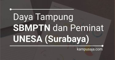 Daya Tampung dan Peminat SBMPTN UNESA Surabaya