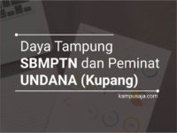 Daya Tampung dan Peminat SBMPTN UNDANA Universitas Nusa Cendana
