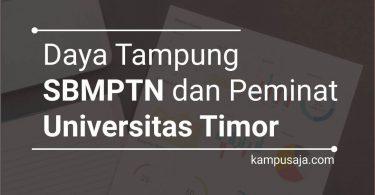 Daya Tampung dan Peminat SBMPTN UNIMOR Universitas Timor