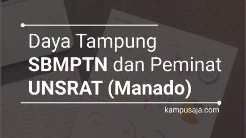 Daya Tampung dan Peminat SBMPTN UNSRAT Universitas Sam Ratulangi Manado