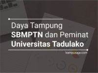 Daya Tampung dan Peminat SBMPTN UNTAD Universitas Tadulako Palu