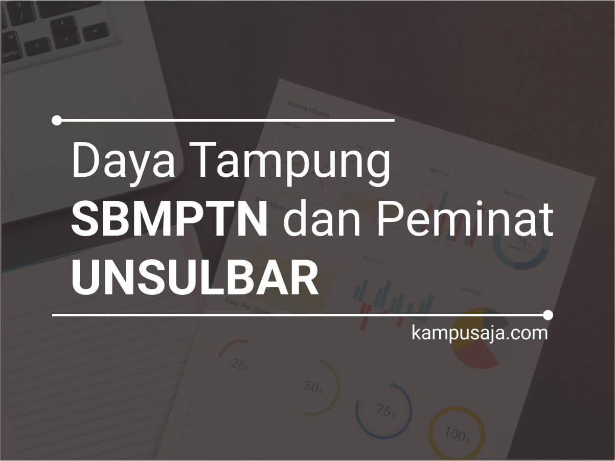 Daya Tampung dan Peminat SBMPTN UNSULBAR Universitas Sulawesi Barat