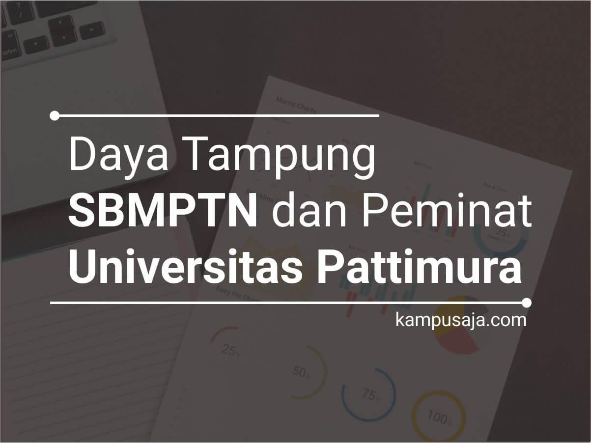 Daya Tampung dan Peminat SBMPTN UNPATTI Universitas Pattimura Ambon