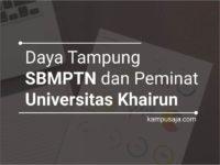 Daya Tampung dan Peminat SBMPTN UNKHAIR Universitas Khairun Ternate