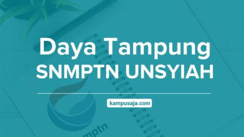 Daya Tampung SNMPTN UNSYIAH - Jalur Undangan Raport Universitas Syiah Kuala Aceh