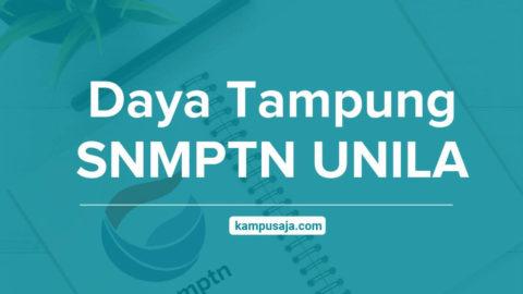Daya Tampung SNMPTN UNILA Universitas Lampung
