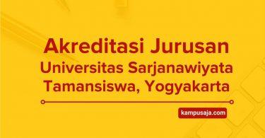 Akreditasi Jurusan UST Yogyakarta - Universitas Sarjanawiyata Tamansiswa
