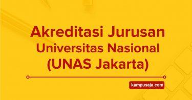 Akreditasi Jurusan UNAS Jakarta - Universitas Nasional
