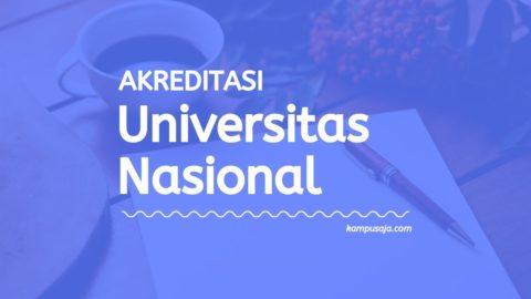Akreditasi Program Studi UNAS Jakarta - Universitas Nasional