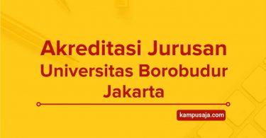 Akreditasi Jurusan Universitas Borobudur Jakarta