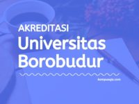 Akreditasi Program Studi Universitas Borobudur Jakarta