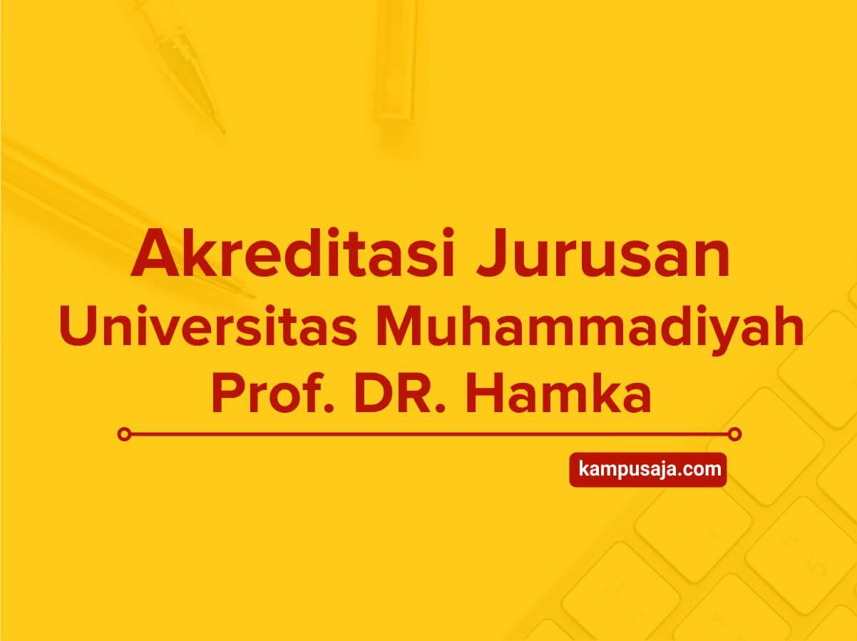 Akreditasi Jurusan UHAMKA Universitas Muhammadiyah Prof. Dr. Hamka
