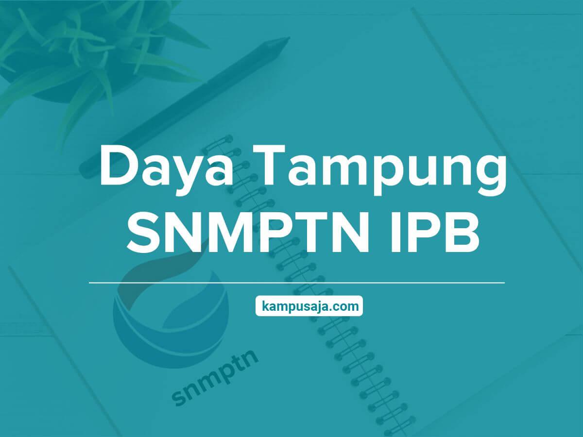 Daya Tampung SNMPTN IPB Institut Pertanian Bogor