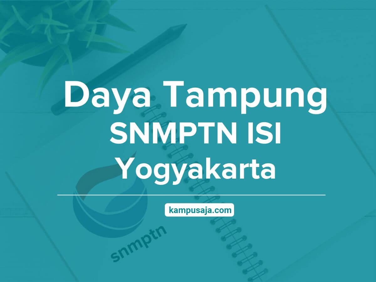 Daya Tampung SNMPTN ISI Yogyakarta