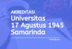 Akreditasi Program Studi UNTAG Samarinda - Universitas 17 Agustus 1945 Samarinda