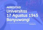 Akreditasi Program Studi UNTAG Banyuwangi - Universitas 17 Agustus 1945 Banyuwangi
