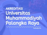 Akreditasi Program Studi Universitas Muhammadiyah Palangka Raya