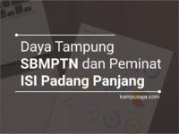Daya Tampung dan peminat SBMPTN ISI Padang Panjang