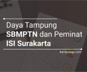 Daya Tampung dan Peminat SBMPTN ISI Surakarta