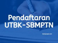 Pendaftaran UTBK-SBMPTN
