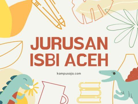 Jurusan di ISBI Aceh